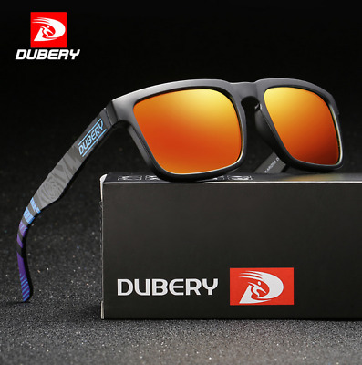 DUBERY Mens Sport Polarized Sunglasses Outdoor Driving Fishing Square Glasses