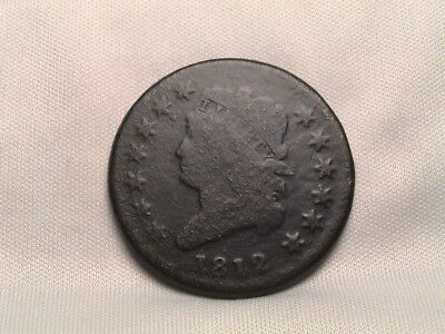 1812 Classic Head Large Cent.  Small Date, S-290, R1.