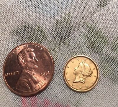 1852 $1 Liberty Head Gold Dollar Rare Collectible Coin Ungraded Appears Mint