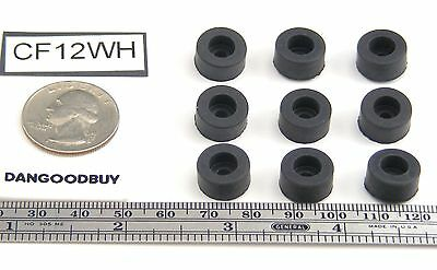 "250 Hard Rubber Bumpers – ""Rubber Feet"" - 1/2"" Diameter-(For Larger Screw Head)"