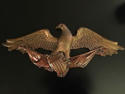 Vintage Bronze-Painted American Eagle Clutching Union Shield