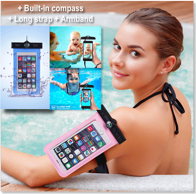 Underwater Pouch Waterproof Dry Phone Bag Case Cover For size UpTo iPhone 7 Plus