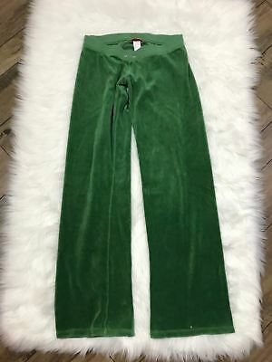 Juicy Couture Green Track Pants Small Wide Leg Lounge Velour Pant 24 99 Picclick