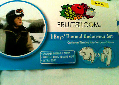 Boy's Size M (8/8) Fruit of the Loom 2-Piece Thermal Underwear Set NWT