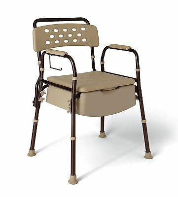 NEW-Medline-Elements-Bedside-Bariatric-Commode-with-Microban-400-lb-MDS896