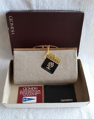 Glomesh Clutch Bag (Bone) - With Tags & Box - Excellent Condition - Vintage