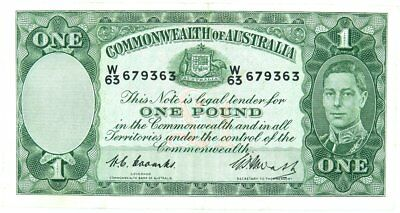 Coombs Watt Australia 1 Pound Note in Excellent Circulated Condition