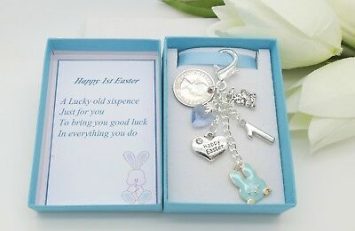 1st First Easter Gift. Bunny Sixpence Charm.Nephew.Niece.Son.Daughter.Grandson