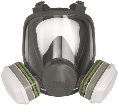 3M FULL FACE REUSABLE RESPIRATOR 6800 Medium, High Impact Visor, Well Balanced