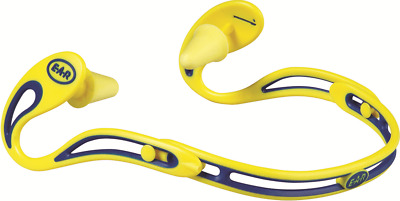 3M SWERVE BANDED EARPLUGS Cartoon Of 10Pairs, Adjustable Band YELLOW *USA Brand
