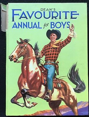 DEAN'S FAVOURITE ANNUAL FOR BOYS - Undated, B&W Picture Stories, Dean & Son
