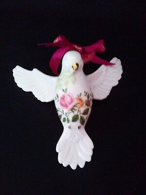 Royal Albert Peace Dove Ornament Old Country Roses 22k Gold Accented