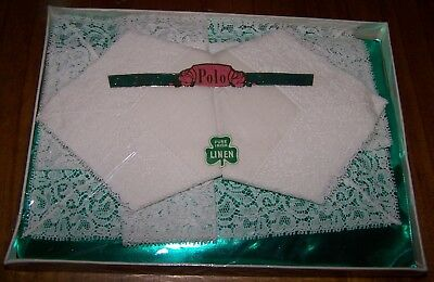 Vintage Pure Irish Linen Handkerchiefs In Original Packaging - New Old Stock