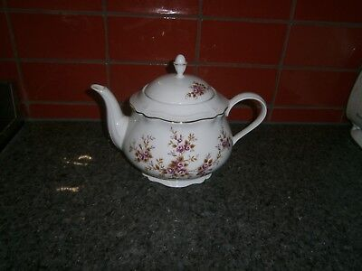 Teapot Royal Tognana Made in Italy Rose design with gold trim  #SundayMarket