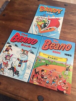 Vintage Beano & Dandy Annuals From 1981, 1984 & 1985