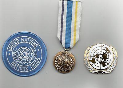 United Nations Medal For The Civilian Police Sg ,un Beret Badge And Sleeve Badge