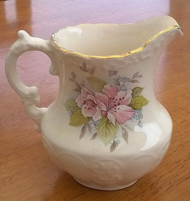 Maling ware flower jug cream with apple blossom Newcastle Ringtons vintage jug