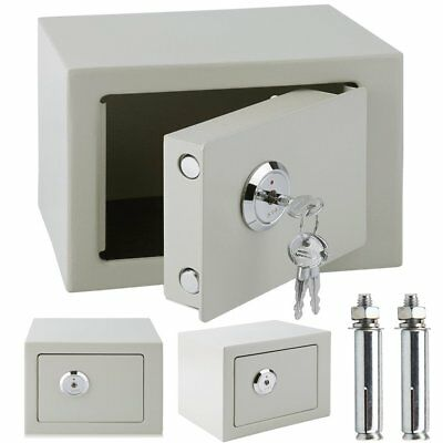 New Safe Large High Security Key Operated Steel Lock  Home Cash Rated Safety Box