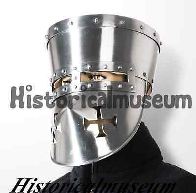 Gladiator Barbute Roman Spartan Mask Sugarloaf Medieval Armour Helmet Xc8D