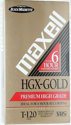 Maxell T-120 VHS HGX-Gold 120 Premium Quality Video Tape BUY 2, GET 1 FREE - NEW