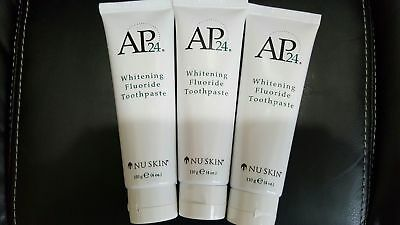 3 Tubes Nuskin AP 24 Whitening Fluoride toothpaste Authentic Oral Care & Health