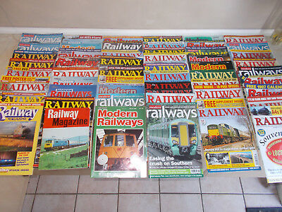 """The Railway Magazine"" / ""Modern Railways"" -  55 magazines"