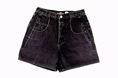 VTG Women's Guess by Georges Marciano Black Denim High Rise Shorts Size 30
