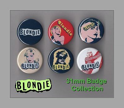 Blondie - Debbie Harry  6 X 31 mm Button Badges Set 2