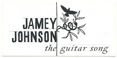 Jamey Johnson The Guitar Song RARE promo sticker '10
