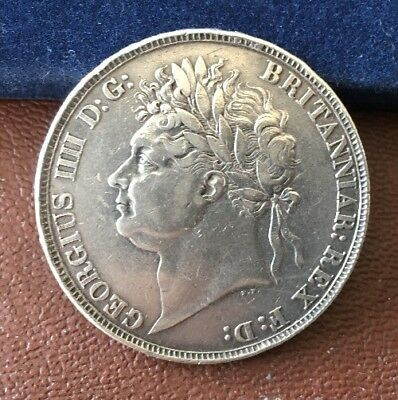 1822 Secundo Crown - George Iv British Silver Coin