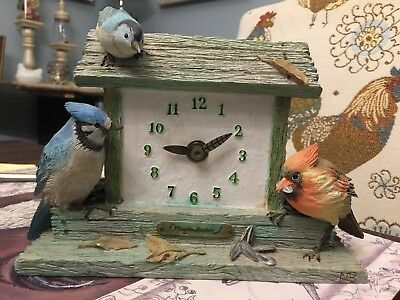 Marjolein Bastin Bird Feeder Clock With Three Birds (B4)