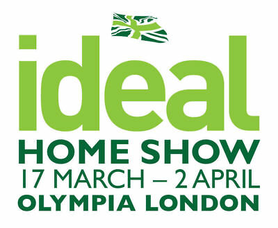 2 x IDEAL HOME SHOW TICKETS SATURDAY 17TH MARCH 2018 LONDON OLYMPIA