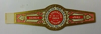 """For Sale: OLD COLLECTIBLE CIGAR BAND, """"HM COMMERCIAL (#16)"""", B153"""