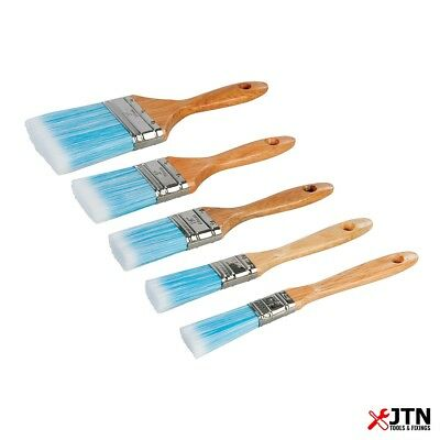 5 Piece Silverline 282408 Synthetic Bristle Paint Brush Set 19, 25, 40, 50, 75mm