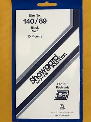 Showgard Stamp Mounts 140/89 - Post Cards-*We Are A Veteran Supportive Business*