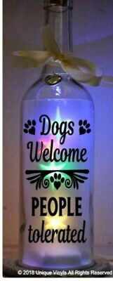 Star Bottle LED Light Up Dogs Welcome People Tolerated Sticker for Bottle