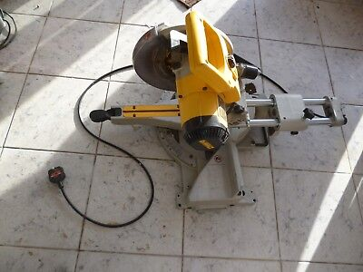 Dewalt DW712 GB sliding mitre chop saw 240V