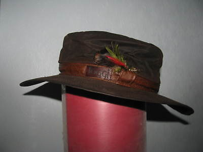 Mens Toggi Rough Country Waxed Hat Dark Brown Large
