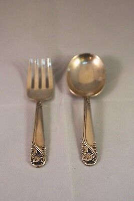 International Sterling Spring Glory Baby Spoon and Fork Set (Vintage)