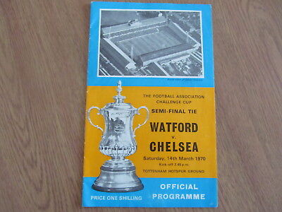 CHELSEA FC vs WATFORD 1970 FA CUP SEMI-FINAL PROGRAMME IN GOOD CLEAN CONDITION