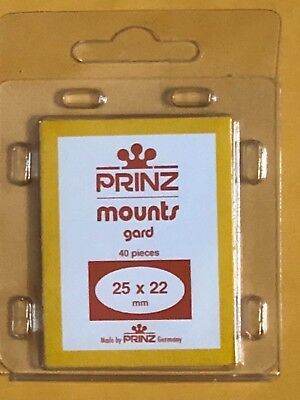 Prinz Stamp Mounts 25/22    ***We Help And Support Our Veterans***