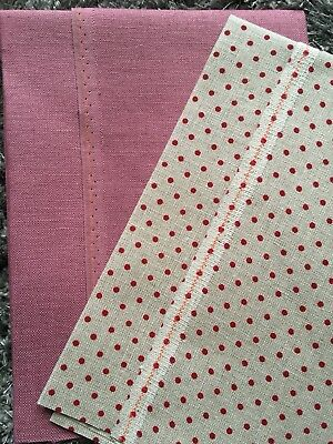 32 Count Zweigart Belfast linen -  2 x fat quarters each 50x 55cm