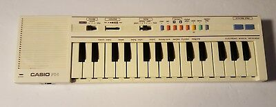Vintage Casio PT-1 Compact Electronic Keyboard Synthesizer White Working