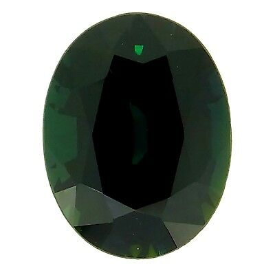 certified oval natural green blue sapphire 2.94ct Genuine Loose Gemstones