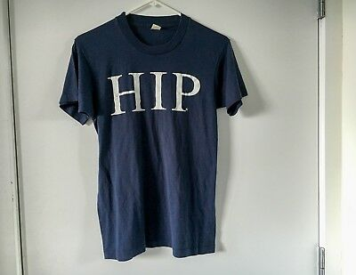 Vintage 1980s HIP Womens T-Shirt - Small - Screen Stars - Soft Tee Navy