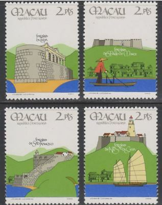 Macao Sc. 534 - 537 Fortresses 1986 MNH