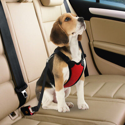 Dog Car Harness Safety Seatbelt Air Mesh Clip Restraint Leash for Dog Travel S-L