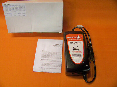 New Mart Cart 10 Amp 12Vdc Battery Charger #280-1936  New In Box