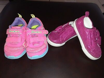 Gymboree Toddler girl sport shoes size 6 and skechers girl size 7