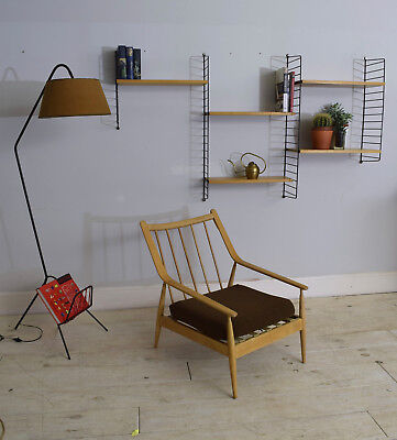 String Shelving Unit Bookcase Vintage Mid Century Ladderax Style CAN DELIVER